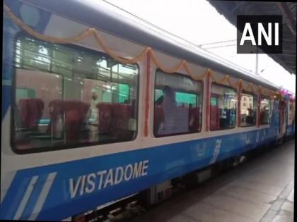 Karnataka's first train with two Vistadome coaches arrives in Bengaluru | Karnataka's first train with two Vistadome coaches arrives in Bengaluru