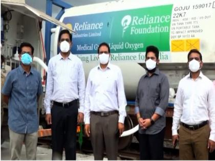 COVID-19: Oxygen Express carrying 80 MT medical oxygen reaches Andhra's Guntur | COVID-19: Oxygen Express carrying 80 MT medical oxygen reaches Andhra's Guntur
