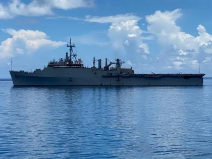 INS Jalashwa arrives in Comoros with 1,000 metric tonne rice | INS Jalashwa arrives in Comoros with 1,000 metric tonne rice