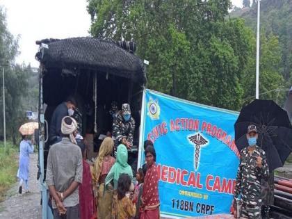 CRPF organises medical camp in J-K's Ganderbal for people facing breathing problems | CRPF organises medical camp in J-K's Ganderbal for people facing breathing problems
