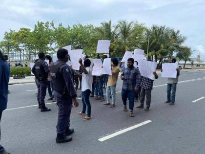 Maldives: Protest outside Chinese embassy against Beijing's treatement of Muslims | Maldives: Protest outside Chinese embassy against Beijing's treatement of Muslims