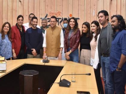 Vikrant Messy, Radhika Apte starrer team 'Forensic' meets Uttarakhand CM | Vikrant Messy, Radhika Apte starrer team 'Forensic' meets Uttarakhand CM