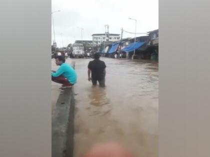 Heavy rain causes waterlogging in Maharashtra's Bhiwadi | Heavy rain causes waterlogging in Maharashtra's Bhiwadi