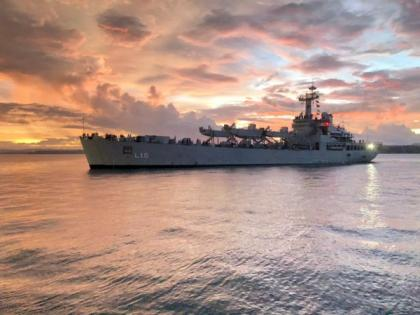 Indian Naval Ship Shardul arrives at port of Antsiranana to undertake joint patrolling with Malagasy Navy | Indian Naval Ship Shardul arrives at port of Antsiranana to undertake joint patrolling with Malagasy Navy
