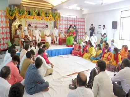 Kishan Reddy celebrates Telugu New Year 'Ugadi', wishes to see great year free from COVID-19 | Kishan Reddy celebrates Telugu New Year 'Ugadi', wishes to see great year free from COVID-19