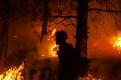 Oregon wildfire burns over over 390K acres, 32% contained   Oregon wildfire burns over over 390K acres, 32% contained