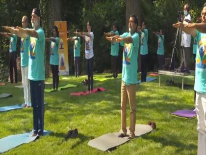 Indian Embassy in US celebrates International Yoga Day 2021 | Indian Embassy in US celebrates International Yoga Day 2021