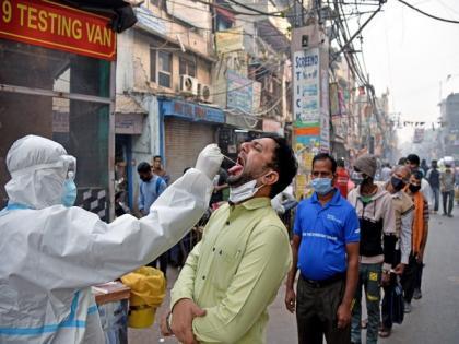 Delhi records 27,047 new COVID-19 cases, 375 deaths, positivity rate at 32.69 pc   Delhi records 27,047 new COVID-19 cases, 375 deaths, positivity rate at 32.69 pc