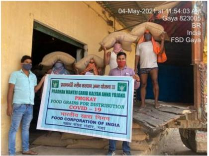 Centre supplies 5.88 LMT food grains for distribution to more than 80 crore beneficiaries under PMGKAY | Centre supplies 5.88 LMT food grains for distribution to more than 80 crore beneficiaries under PMGKAY