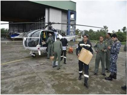 Indian Coast Guard carry out relief, rescue operations in floods-hit states   Indian Coast Guard carry out relief, rescue operations in floods-hit states