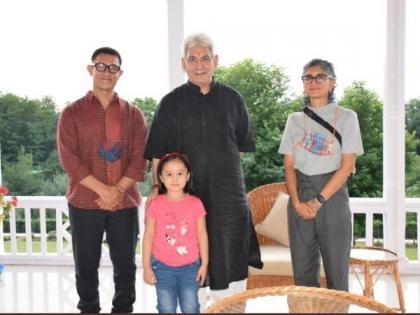 Aamir Khan, Kiran Rao meet J-K Lt Gov Manoj Sinha at Raj Bhavan | Aamir Khan, Kiran Rao meet J-K Lt Gov Manoj Sinha at Raj Bhavan
