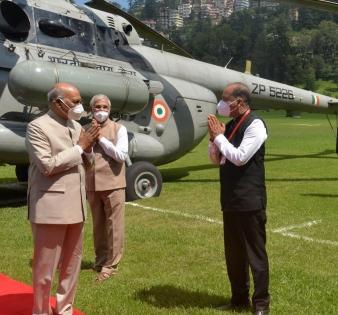 President Kovind arrives in Shimla on 4-day visit   President Kovind arrives in Shimla on 4-day visit