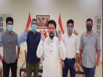 #HumaraVictoryPunch: Anurag Thakur cheers for Indian athletes in Olympics   #HumaraVictoryPunch: Anurag Thakur cheers for Indian athletes in Olympics
