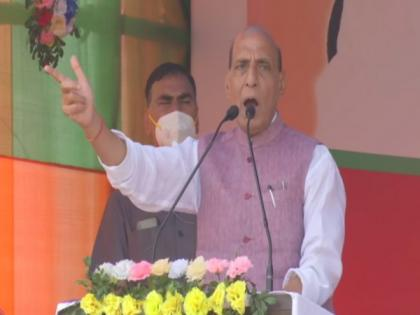 Cong, TMC, Left will feel safe if BJP forms govt in Bengal, says Rajnath Singh | Cong, TMC, Left will feel safe if BJP forms govt in Bengal, says Rajnath Singh