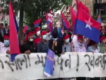 Nepal: Oli supporters protest against SC verdict to reinstate House of Representatives   Nepal: Oli supporters protest against SC verdict to reinstate House of Representatives