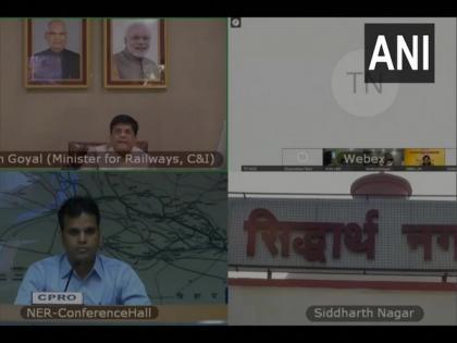 Piyush Goyal inaugurates renaming of Naugarh railway station to Siddharthnagar   Piyush Goyal inaugurates renaming of Naugarh railway station to Siddharthnagar