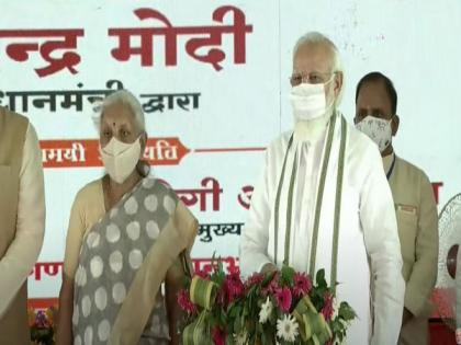 PM Modi lays foundation stone of Raja Mahendra Pratap Singh State University in UP's Aligarh | PM Modi lays foundation stone of Raja Mahendra Pratap Singh State University in UP's Aligarh