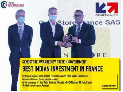 Boost to France India Relations: Indian-origin Diagnostics company GeneStore awarded as best investment in France   Boost to France India Relations: Indian-origin Diagnostics company GeneStore awarded as best investment in France