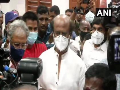 Rajinikanth casts vote in Stella Maris as polling begins in TN | Rajinikanth casts vote in Stella Maris as polling begins in TN