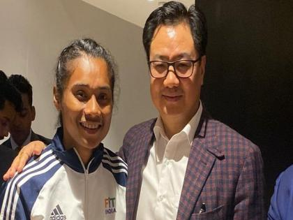 Hima Das will keep running for country: Rijiju after Assam govt appoints sprinter as DSP | Hima Das will keep running for country: Rijiju after Assam govt appoints sprinter as DSP