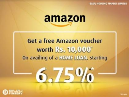 Get Rs. 10,000 Amazon gift voucher free with Bajaj Housing Finance Home Loan | Get Rs. 10,000 Amazon gift voucher free with Bajaj Housing Finance Home Loan