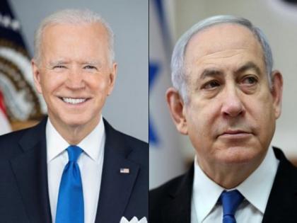 Biden discusses Israel-Palestine conflict with Netanyahu; hopes hostilities to end soon   Biden discusses Israel-Palestine conflict with Netanyahu; hopes hostilities to end soon