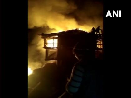 Himachal Pradesh: Fire breaks out at three-storey house in Raila village   Himachal Pradesh: Fire breaks out at three-storey house in Raila village