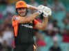 Mitchell Marsh of Sunrisers Hyderabad limps out of the field with ankle injury against RCB