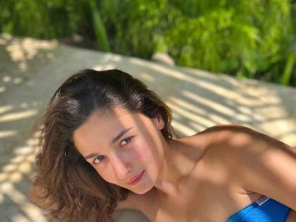 Alia Bhatt stuns in a sun kissed blue strapless bikini   Alia Bhatt stuns in a sun kissed blue strapless bikini