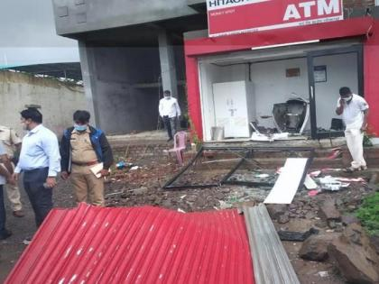 Pune: Thieves trigger explosion, loot ATM in Pimpri Chinchwad | Pune: Thieves trigger explosion, loot ATM in Pimpri Chinchwad