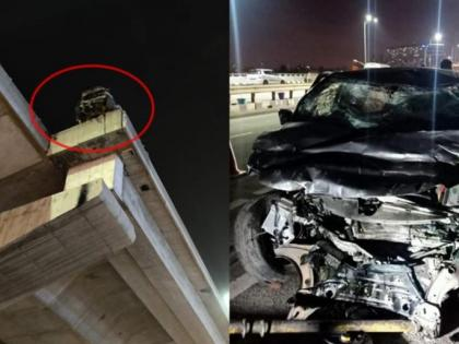 Couple die on the spot after being hit by speeding car on Electronics City flyover | Couple die on the spot after being hit by speeding car on Electronics City flyover