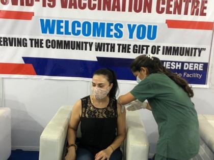 Preity Zinta receives second dose of COVID 19 vaccine in Mumbai | Preity Zinta receives second dose of COVID 19 vaccine in Mumbai