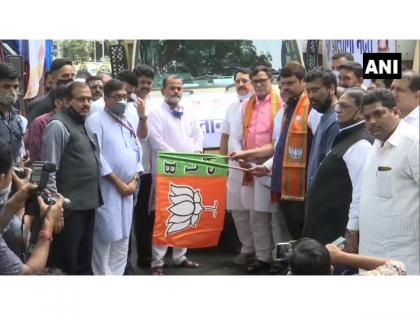 Maha flood: BJP sends relief material to flood-affected areas of Konkan & Western region | Maha flood: BJP sends relief material to flood-affected areas of Konkan & Western region