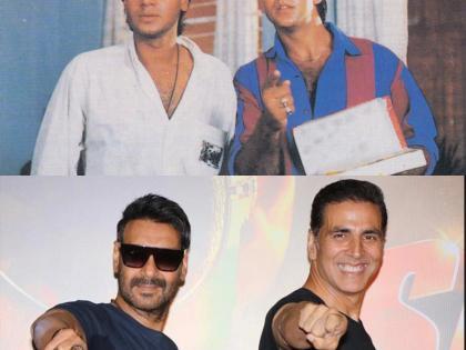 Akshay Kumar gets nostalgic on Ajay Devgn's 52nd birthday | Akshay Kumar gets nostalgic on Ajay Devgn's 52nd birthday