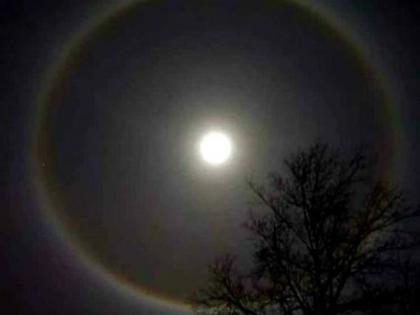 Nagpur witnesses rare 22 degree circular Moon halo | Nagpur witnesses rare 22 degree circular Moon halo