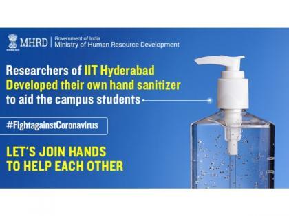 Researchers of IIT Hyderabad develop hand sanitizer for their institute | Researchers of IIT Hyderabad develop hand sanitizer for their institute