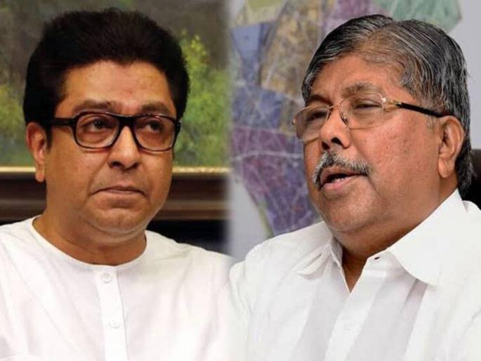 BJP-MNSची युती होणार चंद्रकांत पाटील 'कृष्णकुंज'वर राज ठाकरे  यांच्या भेटीला....