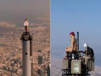 """बुर्ज खलीफा की चोटी पर चंढ़ी महिला, अमीरात एयरलाइंस ने किया ट्वीट,"""" ये सच है या झूठ"""""""