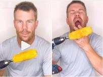 स्टंट के चक्कर में डेविड वॉर्नर के 'टूटे दांत', बोले- इसे घर पर ट्राय मत करना