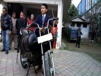 क्लास 6th के स्टूडेंट ने बना डाली हवा से चलने वाली बाइक, पेट्रोल, बैट्री की जरूरत खत्म!