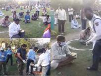 लॉकडाउन संकट: महामारी पर भारी भूख, दिल्ली में भोजन के लिए कतारों में लगी हजारों की भीड़
