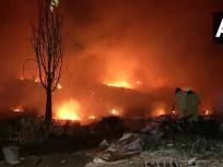 दिल्ली: तुगलकाबाद के झुग्गी बस्ती में लगी आग, मौके पर फायर बिग्रेड की 20 गाड़ियां मौजूद