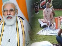 निलंबित सांसदों को चाय पिलाने पहुंचे Rajyasabha के डिप्टी चेयरमैन हरिवंश, PM Modi ने भी की तारीफ