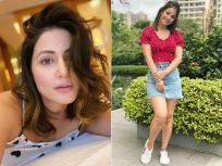 सोशल मीडियावर चर्चेत आला हिना खानचा डेनिम लूक, पहा तिचे स्टायलिश फोटो - Marathi News | Hina Khan latest sizzling photos and images goes viral | Latest television Photos at Lokmat.com