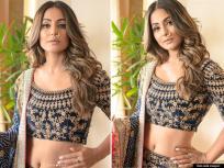 नथीचा नखरा! हिना खानच्या रॉयल फोटोशूटने वेधलं नेटकऱ्यांचं लक्ष, देसी लूकमधील फोटो व्हायरल - Marathi News | Hina khan looks magnificent velvet lehenga exudes royalty throwback viral see pics | Latest bollywood Photos at Lokmat.com