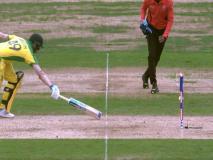 VIDEO: टांगों के बीच से निकलकर स्टंप्स से टकराई गेंद, इस तरह रन आउट हुए स्टीव स्मिथ