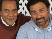 बेटे की जीत के लिए वोट मांगते समय भावुक हुए अभिनेता धर्मेंद्र