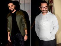 Photos: आमिर खान और आयुष्मान खुराना कूल लुक में हुए जुहू में स्पॉट