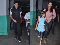 Pics: बेटी आराध्या के साथ ऐश्वर्या राय बच्चन ने जुहू में देखी फिल्म, पापा अभिषेक बच्चन भी आए नजर