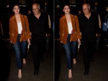 Photos: आलिया भट्ट पापा महेश भट्ट के साथ एयरपोर्ट पर हुईं स्पॉट